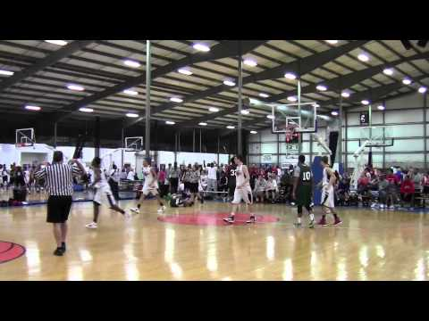Nate Axelrod (2014 Dublin, OH) puts a crossover on his defender and makes him fall and do the splits. Buckeye Nation 16U vs. Ohio Hoopsters 17U AAU.
