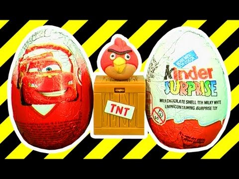 Surprise Eggs Kinder Surprise Cars Extreme Unboxing Will It Blend? Explode? Microwave?