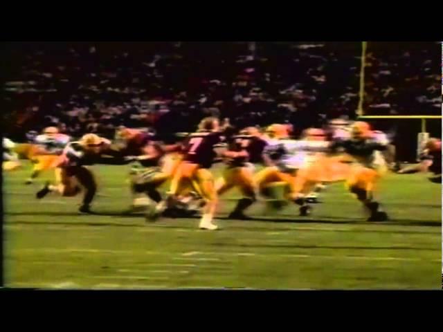 Oregon safety Eric Castle pick six interception returned for TD vs. ASU 11-09-91