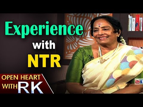 Senior Actress K R Vijaya shares Experience with NTR | Open Heart with RK