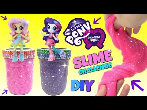 D.I.Y. MY LITTLE PONY MLP EQUESTRIA Rarity & Fluttershy Do It Yourself Glue & Starch SLIME Putty