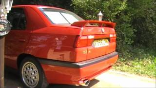 ALFA ROMEO 155 V6 SPORT VERSION 1 EXHAUST SOUND.wmv