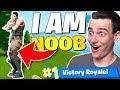 The *I AM NOOB* Challenge in Fortnite: Battle Royale!!