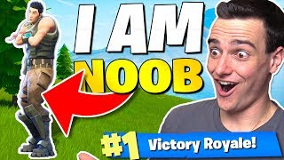 The *I AM NOOB* Challenge in Fortnite: Battle Royale!!
