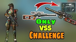 Only VSS Challenge || Garena Free Fire || Desi Gamers ( Hindi )
