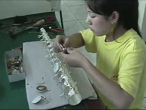 Chinese Musical Instrument Factory - Violin - Flute - Sax video
