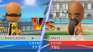 wii sports resort table tennis goes wrong