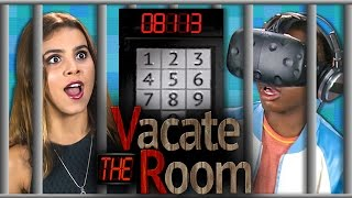 VACATE THE ROOM - VR HTC Vive (Teens React: Gaming)