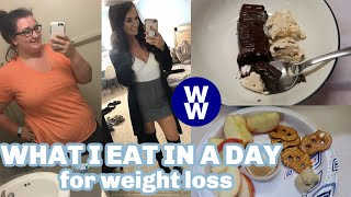 WHAT I EAT IN A DAY TO LOSE WEIGHT | WW BLUE PLAN NURSING | Felicia Keathley