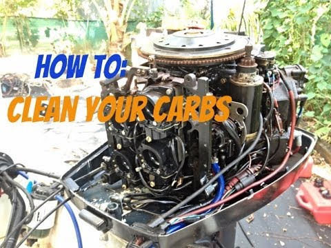 Yamaha  Stroke Outboard Carburetor Cleaning