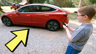 Tesla Model 3 Amazes Kids!