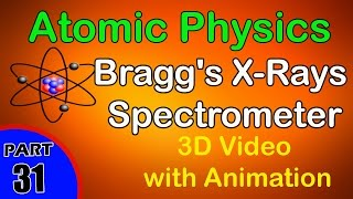 Bragg's X-Rays Spectrometer | Atomic Physics|class 12 physics subject notes lectures|CBSE