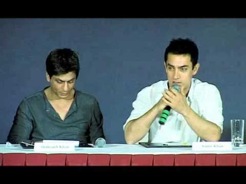 Shah rukh khan and Aamir Khan Press Conference Producers-Distributors Music Videos