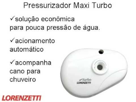 Pressurizador de chuveiro