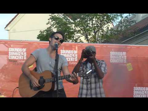 Kris Allen Sings My Weakness at Tanger Outlets in Deer Park 7/14/12 Music Videos