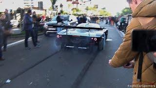 Maserati MC12 GT1 Centenario Doing BURNOUTS on Public Road !