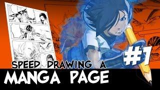Speed Drawing a Manga Page 01