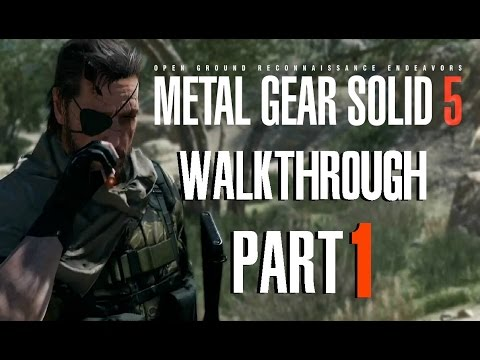 Metal Gear Solid 5 Phantom Pain - Walkthrough Part 1 Gamescom - Desert Base Gameplay