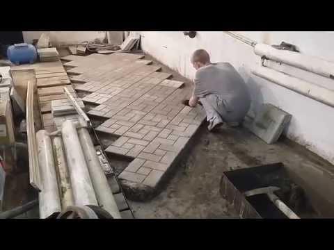 Плитка в гараже видео