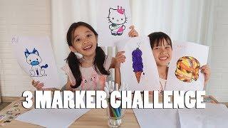 3 MARKER CHALLENGE | KANA KOK PANGGIL KALA SI TUTUT?