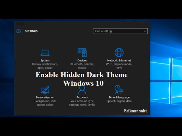 [Windows 10 Tips And Tricks- Enable Windows 10's Hidden Dark ...] Video