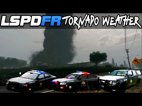 GTA 5 LSPDFR 3.1 Police Mod : F5 Tornado Mod Weather! with Texas State Troopers