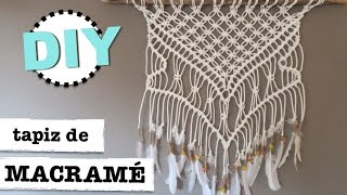 DIY | como hacer macrame decoracion pared | tapiz