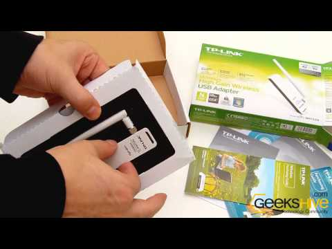 150Mbps High Gain Wireless USB Adapter TL-WN722N TP-Link - Unboxing by www.geekshive.com