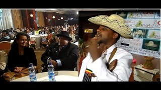 Download Humorous Azmari Entertains Former Ethiopian president 3Gp Mp4