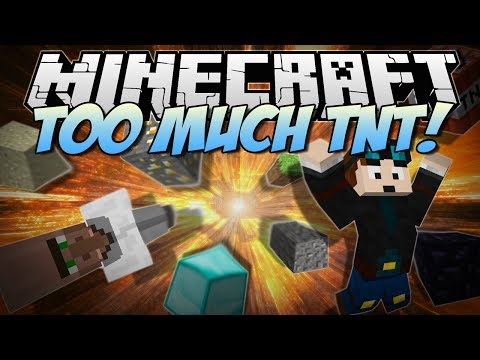 Minecraft TOO MUCH TNT Over 35+ NEW TNTs Explosives Mod Showcase 1.6.4