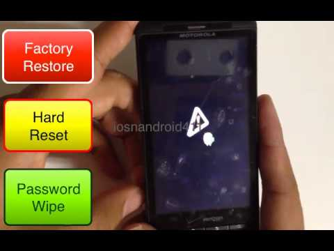 Hard Reset Factory Restore Password Wipe Motorola Droid X MB810 Verizon How to Tutorial
