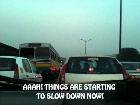 Driving in Delhi at 400 Km/h: From Gurgaon to NOIDA border in 5 mintues!