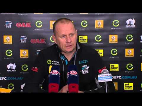PTV: Ken Hinkley post-match v Suns, Rd 22 2015