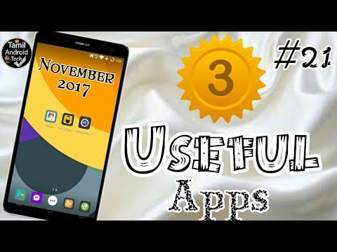3 சிறந்த Apps in November 2017 | 3 Best Apps for Android in November 2017(Tamil) No Root Need