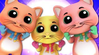 Three Little Kittens | Kindergarten Nursery Rhymes For Kids