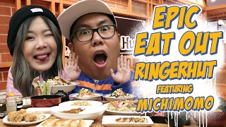 Epic Eat Out #19: Mukbang Challenge with Michelle Hendra (Michi Momo) at Ringer Hut | PUTRA SIGAR