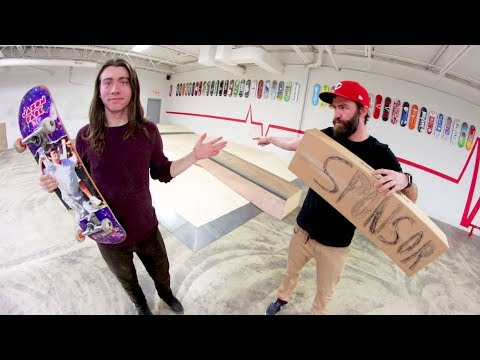 Land Skate Tricks =  Sponsor Package! / Warehouse Wednesday