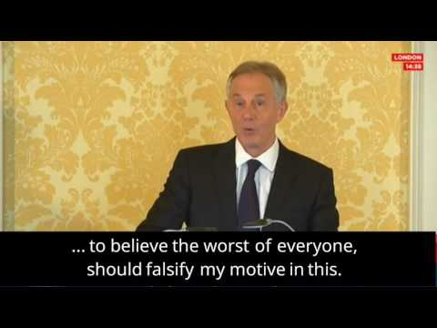 Tony Blair reacts to inquiry's criticisms over UK's invasion of Iraq in 2003