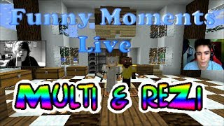 "Funny Moments / Skrót z live'a reZi & Multi ""MINECRAFT POKEMON!"""
