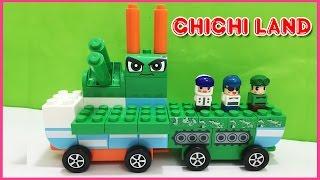 Đồ chơi trẻ em LEGO CHICHI LAND ĐỘI XE BIẾN HÌNH KẾT HỢP XE TĂNG, TÊN LỬA, KHÍ CẦU (Chim Xinh)
