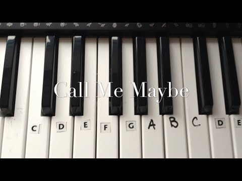 Call Me Maybe By Carly Rae Jepson Keyboard Tutorial Easy - How To Play video