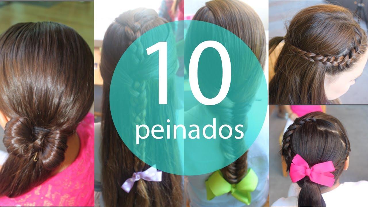 10 peinados faciles y rapidos para ni as youtube - Peinados faciles y rapidos paso a paso ...