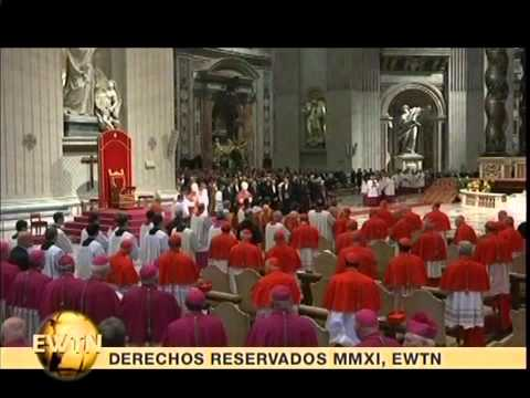 Jeremy Goebel serving at Good Friday Mass in Rome w/Pope