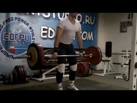 2013.12.26 Подъем на грудь с высокого виса 127 кг. Виктор Першин (87 кг).