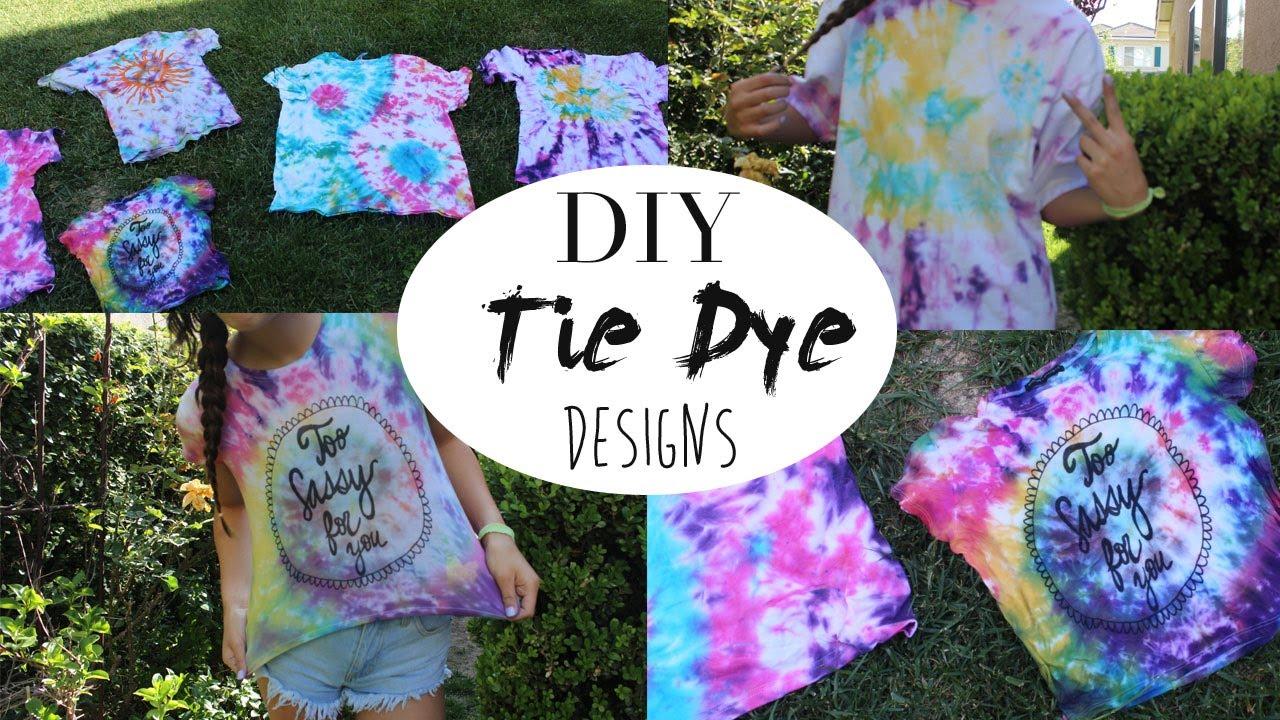 Diy Tie Dye Designs And Youtube