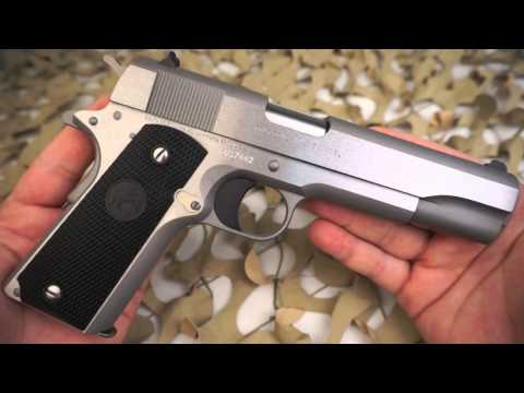 Colt 1911 Government Model Stainless 45ACP Semi Auto Pistol Overview - Texas Gun Blog