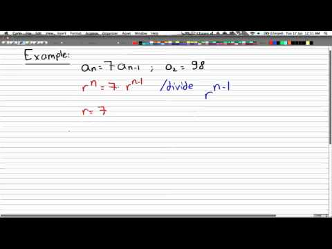 Discrete Math 2 - Tutorial 24 - Linear Recurrence Relations