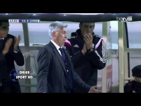 Carlo Ancelotti imita a Cristiano Ronaldo en la celebración