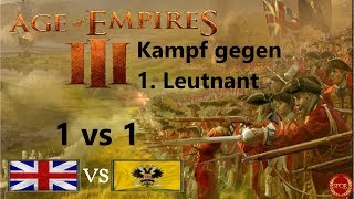 Age of Empires 3 // Hartes Match vs. 1. Leutnant [Deutsch/Gameplay/HD]