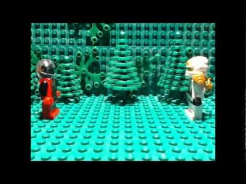 Lego ninjago stop motion space robot vs zane zx